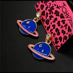Betsey Johnson Blue Planet Earrings